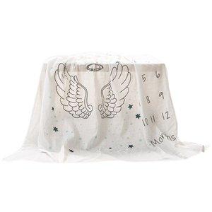 Baby Monthly Milestone Blanket Cotton Baby Milestone Blanket Shower Gifts for Newborn Boy & Girl