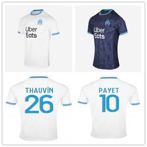 20 21 Olympique de Marseille Soccer 2020 2021 Maillot de Foot PAYET BENEDETTO L.GUSTAVO THAUVIN Marseille Maillot de football chemises