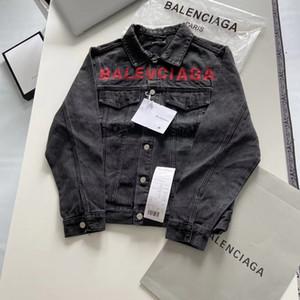 20ss Paris'in luxurys BAL nakış harfler Kot ceket Kadın Erkek Uzun Kollu Sweatshirt güneş koruyucu Streetwear Açık Kapüşonlular 7.23