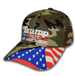 Donald Trump Baseball Hat USA Star Flag Camouflage Cap Keep America Great 2020 Hat 3D Embroidery Letter Adjustable Golf Cap HHA-351