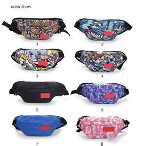 New designer waist bag print Spletter sport men and women travel bag fanny pack belt chest bag running purse sport outdoor high quality