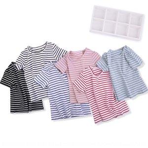 Summer Top Children's clothing striped short-sleeved T-shirt versatile basic children's clothing jacket for boys and girls T-shirt