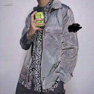 Stone metal nylon jacket island shirt bo coat long sleeve men and women