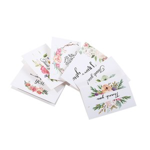 Lovely Sweet Creative Thank you Card 6psc per set Clean Elegant Paper Envelopes with Best Wishes blessing Card