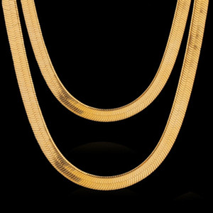 Wholesale Price 24k -Color Plated Brass Chain Necklace For Women Herringbone Chains Brass For Jewelry Making Gift