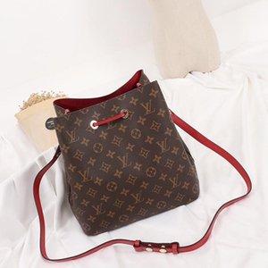 New Arrival Vintage Fashion Classic Women Bags Leather Bucket Bag Handbag Drawstring Shoulder Bag Messenger Crossbody Bags Drop Ship