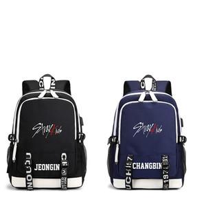 KPOP USB Stray bambini scuola dello zaino Blue Black Bag JISUNG Woojin SEUNGMIN MINHO JEONGIN FELIX Changbin Hyunjin LJJ626 T200709