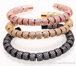 amor pulsera Norooni para mujeres hombres bricolaje artesanal pulseras geométricas circón de acero de titanio pulseras brazaletes de puño Pulseiras