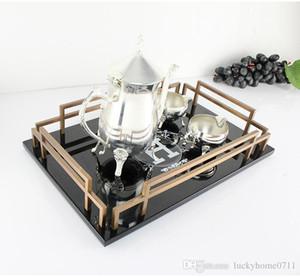 Europäische kreative Heimat rechteckigen Modell Raum amerikanischen Stil Wohnzimmer Couchtisch Nachmittagstee Holzessgeschirr Tablett Dekoration 2020