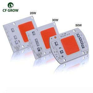 10pcs Full Spectrum LED Grow Light Chip DIY 220V AC COB 380~780nm Actrual Power 20W 30W 50W Replace Sunlight for Indoor Plants