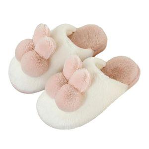 Quente Mulheres Winter Chinelo pelúcia macia interior Sapatos Casa de algodão impermeável Furry Non-Slip Quarto Slides Femininas