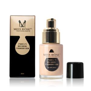 Новый MISS ROSE Liquid Foundation 7 цветов Макияж Фонд лицо макияж Основа Корректор крем для глаз Жидкого Корректирующего Bronzer Primer
