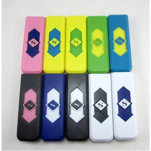 Cigarette Lighters USB Rechargeable Battery Electronic Cigarettes Lighter Windproof Flameless No Gas Fuel Flame Retardant Plastic DBC BH3657