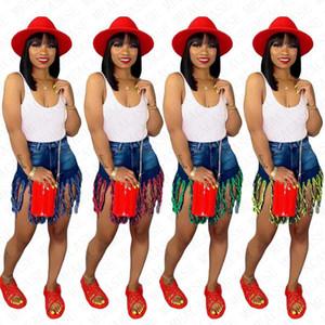 Partito a vita alta della nappa denim shorts sexy estate di usura di Ins Donne discoteca a caldo dei pantaloni di bicchierini Beachwear spiaggia casuale D71603 brevi Jeans S-3XL