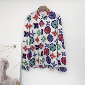 2020Brand New Mens Designer Dress Shirts Fashion Casual Shirt Men Medusa Shirts Gold Floral Print Slim Fit Shirts Men