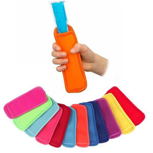 Free DHL Antifreezing Popsicle Bags Freezer Popsicle Holders Reusable Neoprene Insulation Ice Pop Sleeves Bag for Kids Summer Kitchen Tools