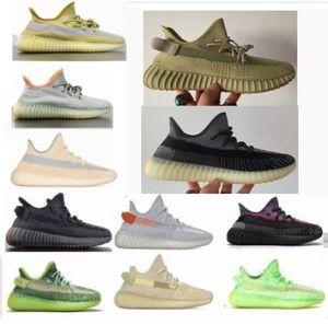kanye west v2 700 v3 sapatos de enxofre cinza zyon lien mulas oreos sapatos masculinos deserto estática sábio cauda luz yecheil mulheres tênis