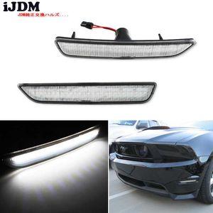 iJDM lentille claire Front Side Marker Lampes avec 27 SMD orange / blanc LED pour 2010-2014 Mustang pare-chocs avant