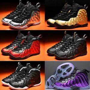 New Penny Hardaway Basketball-Schuhe für Männer Weiß Silber Sport Sneakers Foam Ein Trainer Männer Foams Schuh-Größe US 7-13