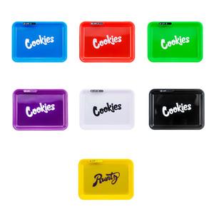 쿠키 LED는 핸드백 편지 광장과 흡연 액세서리에 대한 롤링 트레이 글로우 트레이 휴대용 상자 충전식 남성 GIF를 조명