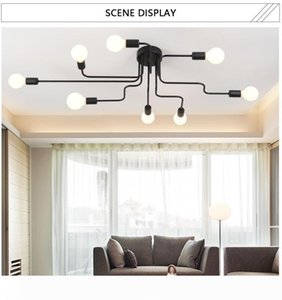 Lighting Facture Nordic modern minimalist modern living room bedroom lamp personality creative industrial wind restaurant ceiling lamp