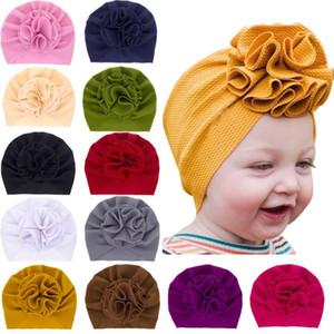 Güzel Bloom Çiçek Bebek Hat Çocuk Elastik Kafa Bebek Turban Şapka Kız Kumaş Headwrap Bebek Hatunlar Beanie Caps