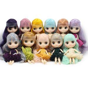 middie blyth Puppe matt Gesicht Geeignet für DIY ändern 20cm normal und gemeinsame Mitte blyth 1/8 BJD Puppen Mädchen Spielzeug T200712