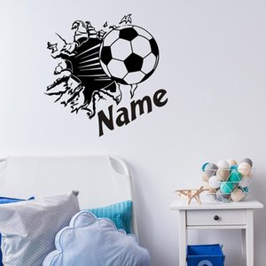removable vinyl Personalzied wall decals stickers boy room football bedroom wall decals name wall mural sticker
