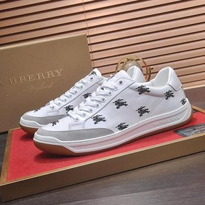 Men Sneakers Sports Shoes Luxury 2019 Fashion Runner Luxury Trendy Platform Trainers Athletic Perforated Logo Leather Tennis Sneakers M #35