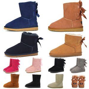 UGG Boots UGGs مصمم أستراليا النساء فتاة كلاسيكية الثلوج جزمة الكاحل قصيرة القوس الفراء التمهيد لشتاء أسود الكستناء النساء أحذية حجم 36-41 الأزياء في الهواء