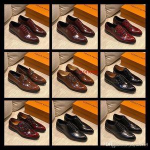 A1 52 Modell-Partei-Kleid Business-rote Sohle Greggo Cap Toe Männer s Wohnung Oxford Homme Loafers Schuhe Gehen 38-45