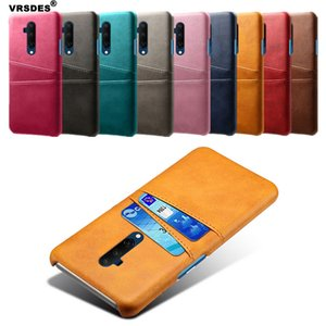 Retro PU Leather Card Slots Wallet Case For OnePlus 7 6 5 Case Retro Matte Hard PC Back Cover For OnePlus 5T 6T 7T Pro Case Capa