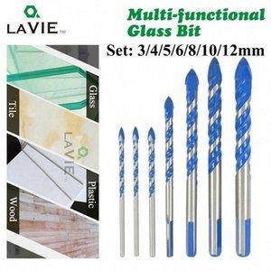 Lavie 7pcs 3/4/5/6/8/10 / 12mm multi-funcionais Broca de vidro Bit Triangle brocas para Azulejo de betão de vidro de mármore DB02061 c2G8 #