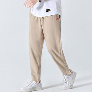 Pamuk Keten Günlük Harem Pantolon Erkekler Koşucular Man Yaz Pantolon Erkek Çince Style Baggy Pantolon 2020 Harajuku Clothes