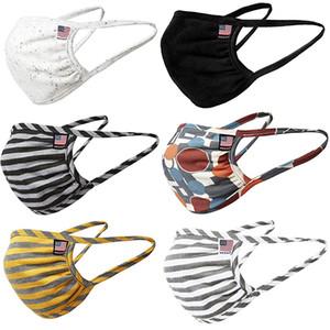 2020  face mask men women fashion cotton reusable face masks adult american flag mask star breathable anti dust fog mouth masks