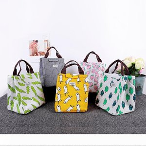 Waterproof oxford cloth heat preservation bag portable lunch bag bento bag 5 styles free shipping W8792
