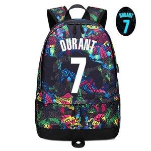 Jugador de baloncesto de la estrella Durant bola luminosa de almacenamiento Mochila Equipo multifuncional deportivo Estudiante Bookbag Para Hombres Mujeres