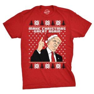 Make New 2020 Cotton Mens Weihnachten Great Again Weihnachtsmütze Trump Lustige hässliche Weihnachten Tee Kurzarm-T-Shirt