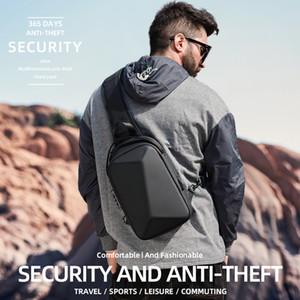 Fenruien 2020 Nouveau sac à bandoulière pour les hommes multifonctions Anti-vol étanche sac à bandoulière homme court voyage USB Charging pack coffre