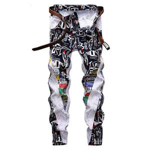 Biker Denim Fashion Slim Fit Washed Motocycle Denim Pants Panelled Hip jeans de designer pour hommes mens designer joggers
