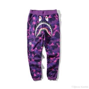 Fashion Mens designer pants A Bathing aape HIP HOP camo Shark cotton ape mens designer casual shorts Street clothing vetements