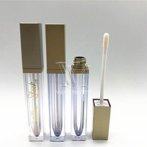 50pcs 6ml Lipgloss Plastic Box Containers Empty Bronze Gold Lipgloss Tube Eyeliner Eyelash Container Mini Lip Gloss Split Bottle