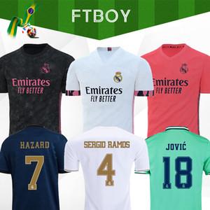Real Madrid Maillots 2020 Jersey DANGER Isco REINIEsoccer SERGIO RAMOS MODRIC BALE kit uniformes chemise de football 20 21 chemisettes de sports d'EA