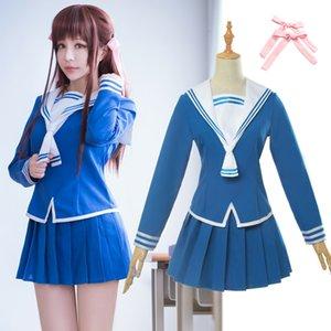 Meyve Sepeti Cosplay Kostüm Tohru Honda Cosplay Üniforma JK Kız Sailor Üniforma