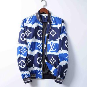 2020 Brand men's jacket Bermuda European hip-hop print long sleeve clip autumn and winter new fashion V-neck luxury men's jacket