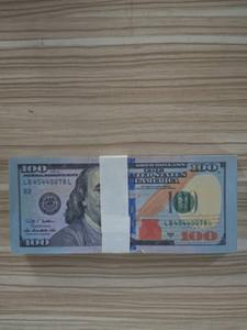 Bar prop Faux billet New USA 100 Dollar gefälschte Nightculb Film Spielgeld Party Kinderspielzeug 100pcs / pack 01
