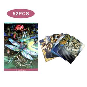 Englisch Version Geister der Tiere Oracle Deck Tarotbrettspiele-Party-Spielkarte Divination Fate Tabellen-Spiel