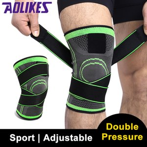 Aolikes 2020 genou Protect tissage 3D Pad Sport Pressurisation genou de basket-ball professionnel de protection Randonnée à vélo Sécurité