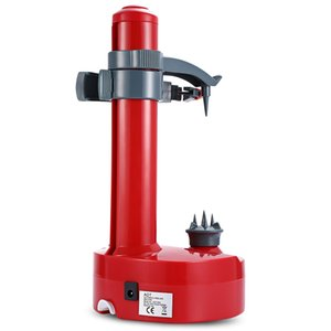 Multifunction Electric Peeler For Fruit Vegetables Automatic Stainless Steel Apple Peeler Kitchen Potato Cutter Machine Red
