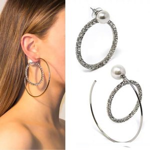 2019 Latest Model Women's Earrings Stud For Goddess Classic High Quality Luxury Oversized circle pearl designin